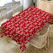MissW Christmas Color Printed Tablecloth