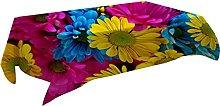 MissW Digital 3D Printed Tablecloth Plant Flower