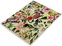 MissW Nordic Art Style Flower Series Placemat