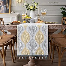 MissW Nordic Geometric Leaf Fish Print Table