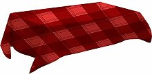 MissW Red Christmas Series Tablecloth Black Gold