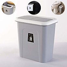 MissZZ Hanging Trash Can with Lid for Cabinet