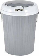 MissZZ Round Plastic Trash Can With Press Top