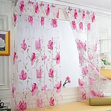 Mitlfuny 1 PCS Flowers and Vines Leaves Tulle Door