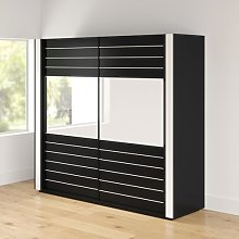 Mitzi 2 Door Sliding Wardrobe Wade Logan