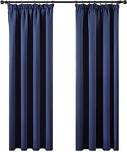 MIULEE 2 Panels Blackout Curtain Soft Solid