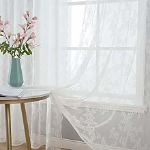 MIULEE 2 Panels Curtains Sheer Lace Curtain Panel