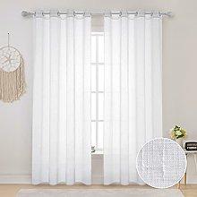 MIULEE 2 Panels Linen Textured Waterproof Patio