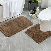 MIULEE Absorbent Bath Mat Set 2 Pieces Non Slip