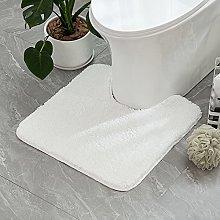 MIULEE Absorbent WC Toilet Rug Non Slip U Shape