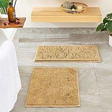 MIULEE Bath Mat Set Non Slip Chenille Bathroom