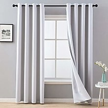 MIULEE Blackout Christmas Curtain Soft Solid
