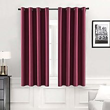 MIULEE Blackout Curtain Christmas Very Soft Solid