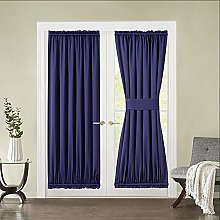 MIULEE Blackout Curtain Panel for French Door