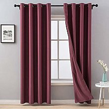 MIULEE Blackout Curtain Very Soft Solid Thermal