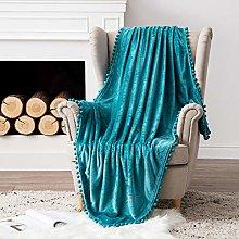 MIULEE Flannel Sherpa Bed Blankets Warm Fluffy