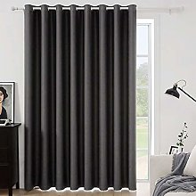 MIULEE Grey Blackout Curtain for Living Room