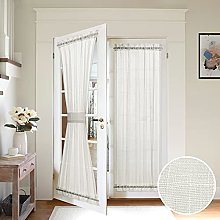 MIULEE Ivory French Door Curtain Set of 2 with