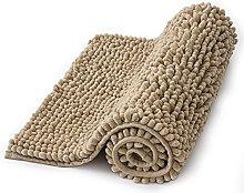 MIULEE Non Slip Bath Mat Microfiber Chenille with