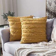 MIULEE Pack of 2 Cotton-Linen Throw Pillow