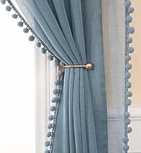 MIULEE Pom Poms Curtain Voile Sheer Translucent