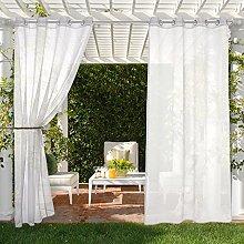 MIULEE Set of 2 Sheer Voile Waterproof Curtain