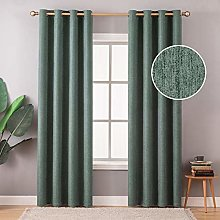 MIULEE Thermal Insulated Linen Curtain 2 Panels