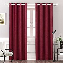 MIULEE Thermal Linen Curtain for Bedroom / Living
