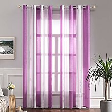 MIULEE Voile Curtains Classic Striped Curtain