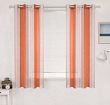 MIULEE Voile Curtains Semi Transparent Soft