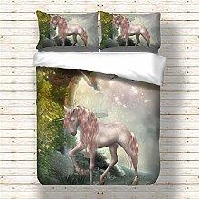 MIUNNG Colored Unicorn Decorative Bedding Set Boys