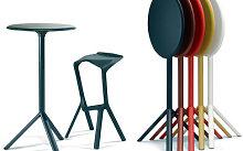 Miura Bar stool - H 78 cm - Plastic by Plank Black