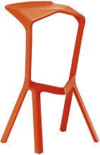 Miura Bar stool - H 78 cm - Plastic by Plank Orange