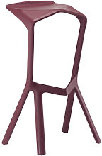 Miura Bar stool - H 78 cm - Plastic by Plank Red