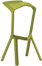Miura Bar stool - H 78 cm - Plastic by Plank Yellow