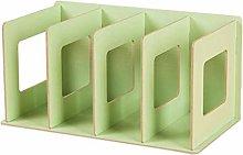 Miwaimao 4 Grids Wooden Bookshelf Bookends Book