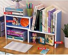 Miwaimao Adjustable Bookshelf Desktop Combination