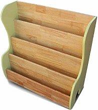 Miwaimao Bookshelf Rack 4 Tier Shelves Storage