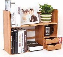 Miwaimao Desktop Bookcase Desk Shelf Racks Desk