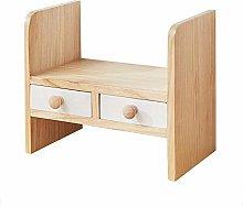 Miwaimao Solid Wood Desktop Bookshelf,Desk Storage