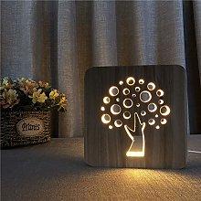 Miwaimao table lamps Cartoon Tree Creative