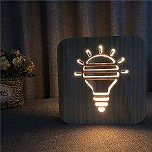 Miwaimao table lamps Light Bulb Cartoon Wooden