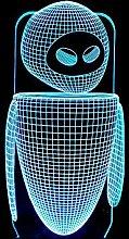 Miwaimao table lamps Robot LED Lamp Colorful