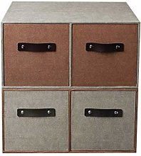 Miwaimao zhuomianshujia Desktop Storage Box Burlap