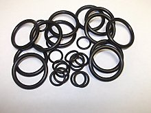 Mix 25 Black O Rings 6mm 8mm 10mm 14mm 17mm Rubber