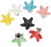 Mixed Colors(7pcs) Fashion Starfish Design Ceramic