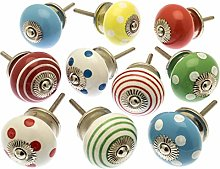 Mixed Set of Bright Coloured Cupboard Knobs x Pack