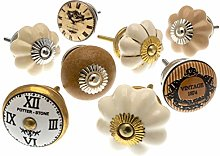 Mixed Set of Vintage Style Ceramic Cupboard Knobs