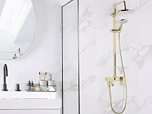 Mixer Shower Set Gold with Rain Function Brass