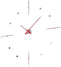 Mixto Wall Clock Nomon Finish: Red Lacquered